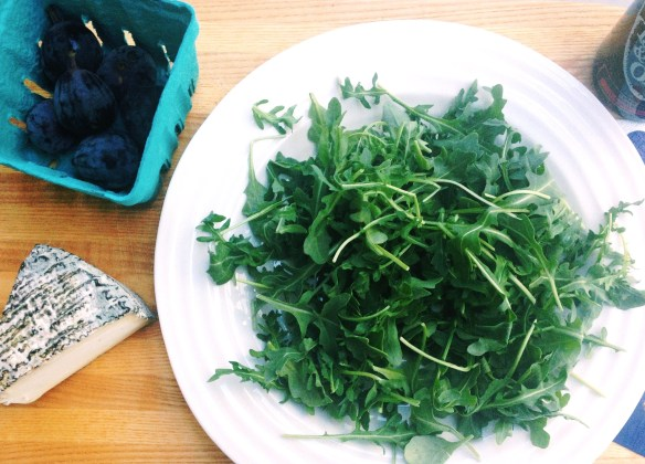 Blog - arugula fig salad with Marimekko napkins 1