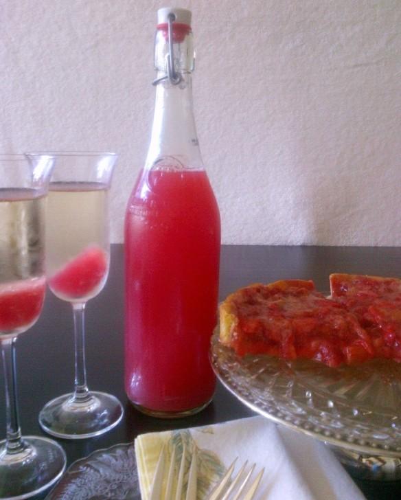 Blog - rhurbarb syrup