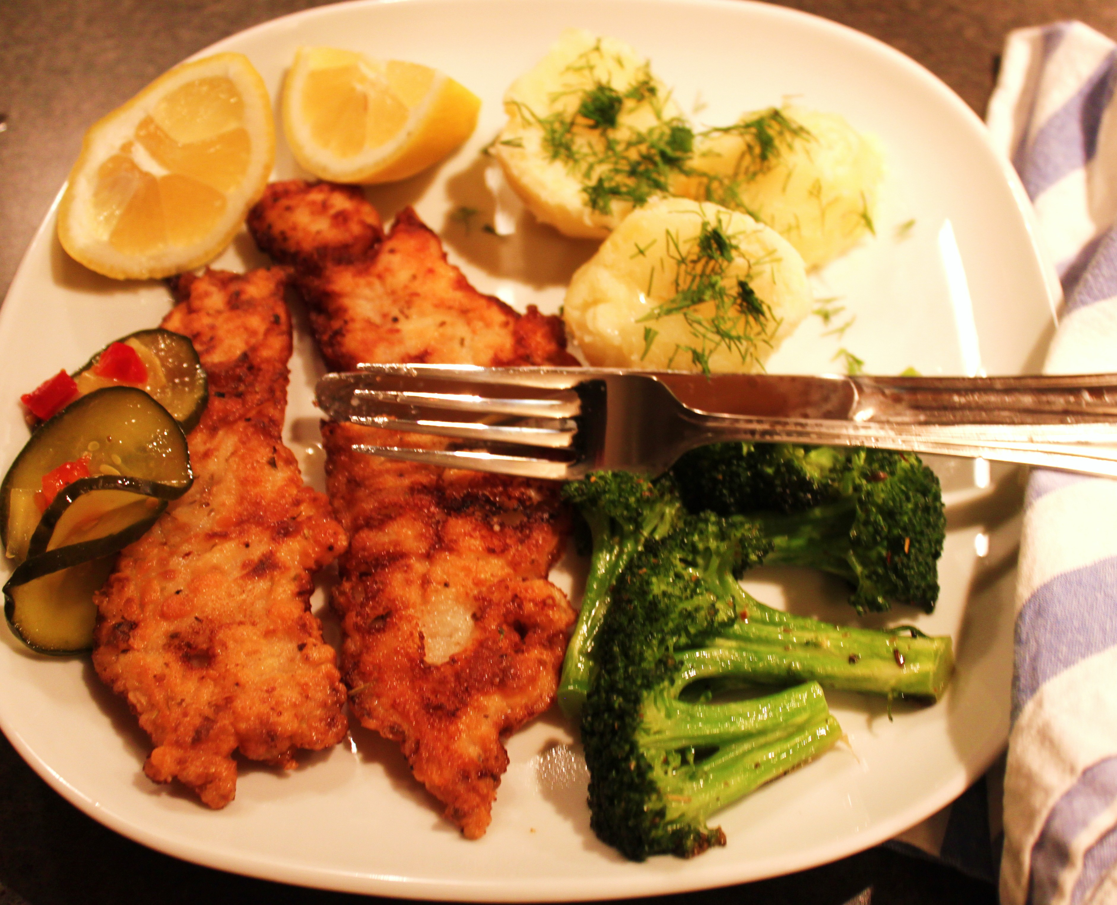 Pan fried haddock always a good dinner for What goes good with fried fish